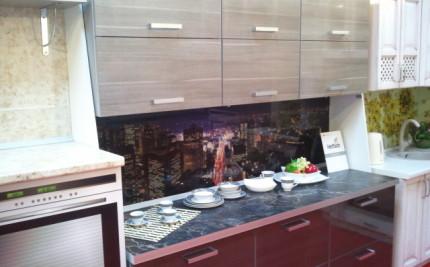 кухня с 3D панелями