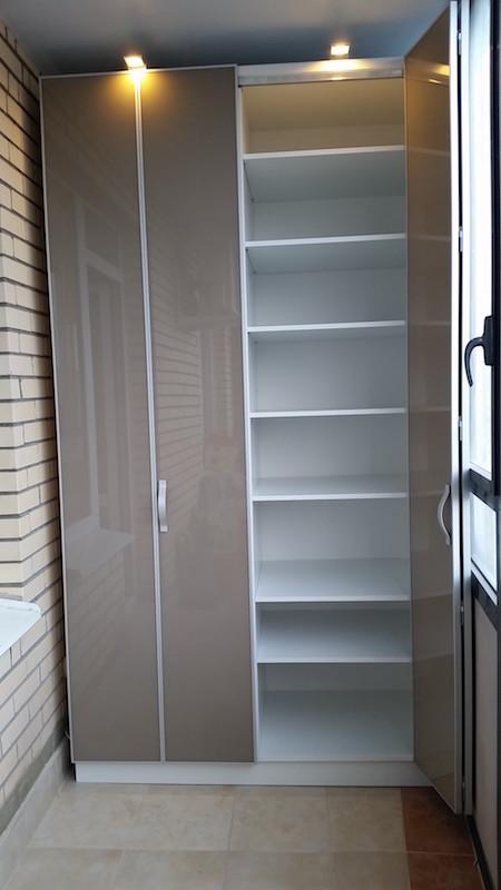 Шкаф-купе для балкона #56 мебель на заказ в спб.