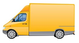 yellow-delivery-truck-vector-graphic