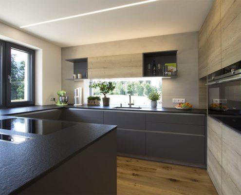 Кухня из массива и шпона