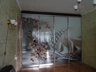 4-х дверный шкаф-купе с фотопечатью